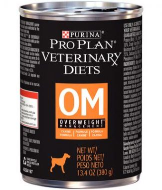 Purina Pro Plan Veterinary Diets OM Overweight Management Dog Food – 13.3oz / Can – Case of 12 Cans