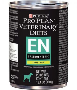 Purina Pro Plan Veterinary Diets EN Gastroenteric Low Fat Dog Food – 13.4oz / Can – Case of 12 Cans